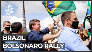 Bolsonaro Attends Rally As Brazil Political Scandal Heats Up