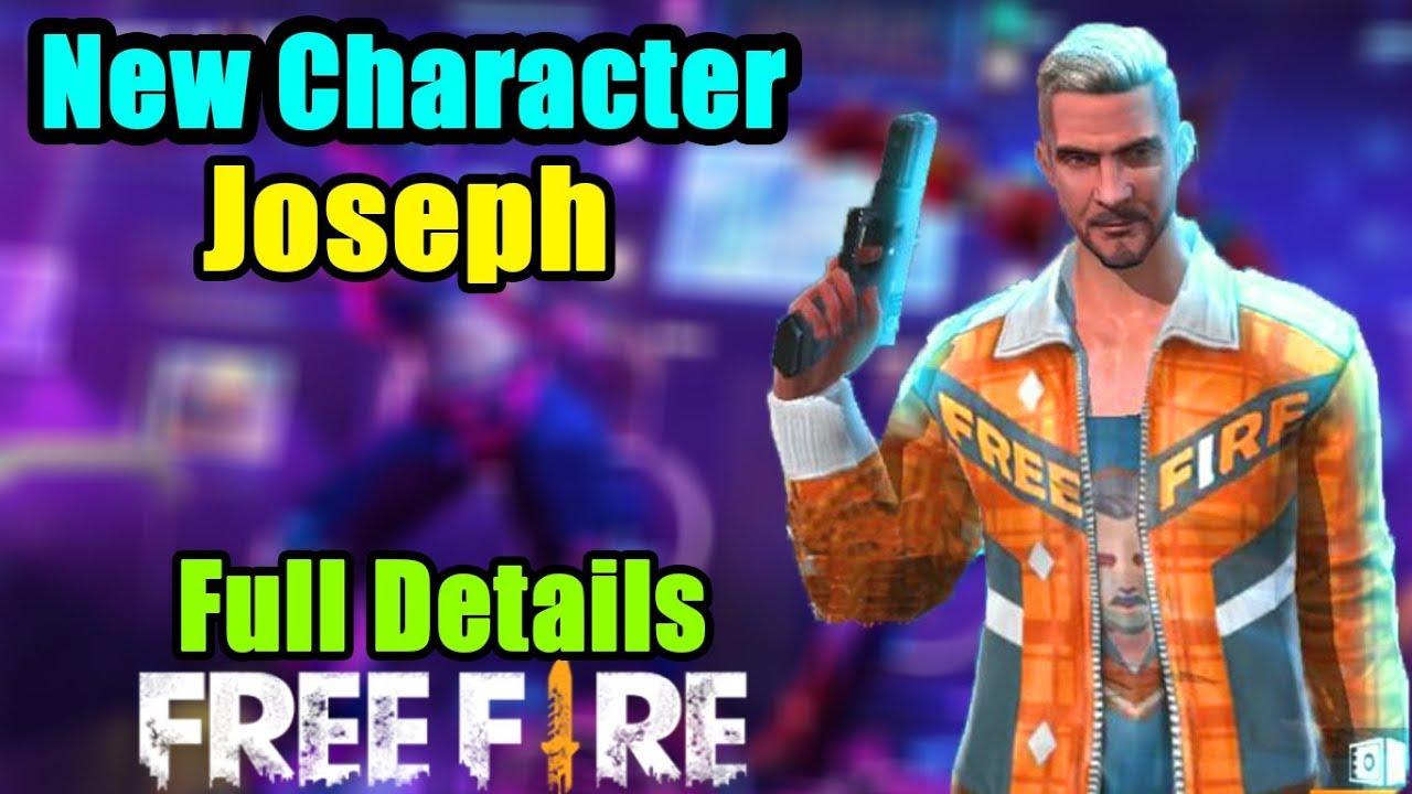 New Character Joseph In Garena Free Fire Full Details Hindi
