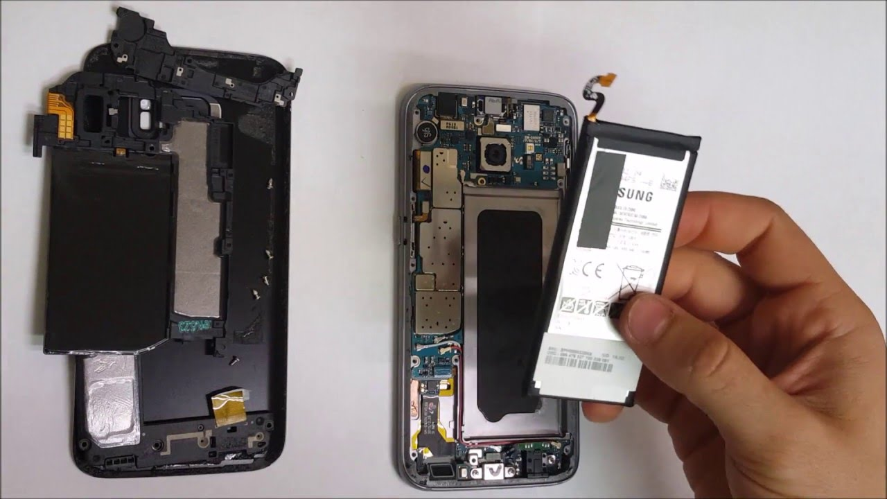 how to replace the battery on a samsung galaxy s7   youtube