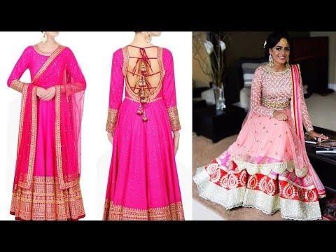 Long Anarkali Gown Dress Designs 2017 Part 32