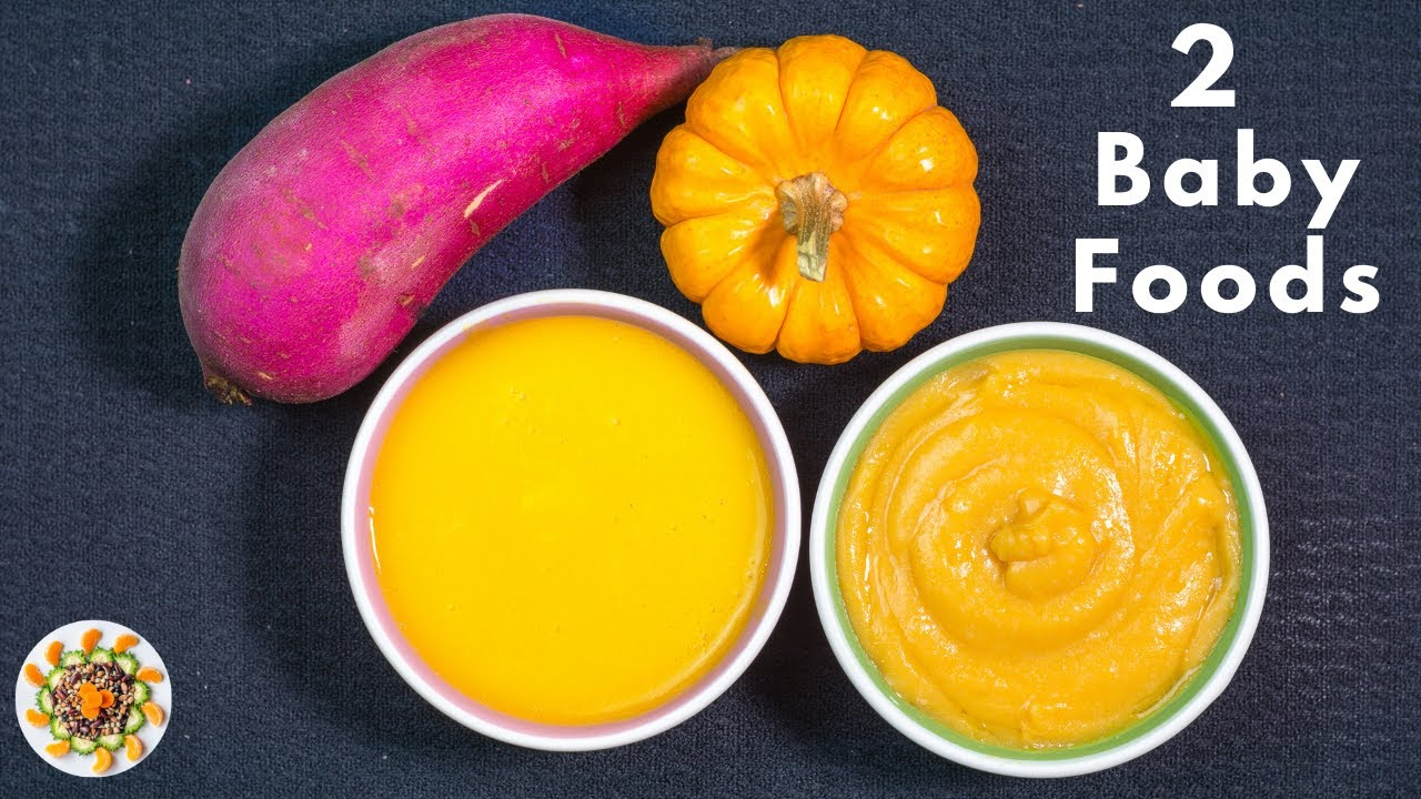 2 Baby Food Recipes for  6 to 12 Month Babies || Healthy  and Weight Gaining Baby Foods
