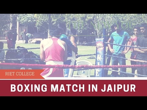 Boxing match in jaipur RIET COLLEGE sport#19
