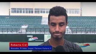 Roberto Cid gana primer lugar del torneo de tenis F2 - Felipe Vicini
