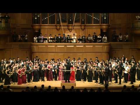 Japan Large Saxophone Ensemble Summit 11 Holst Jupiter