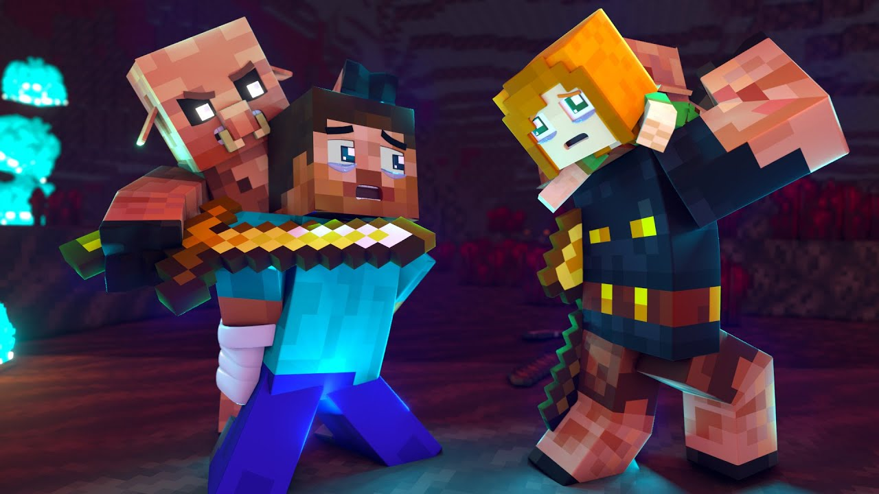 The minecraft life of Steve and Alex   The Nether   Minecraft animation