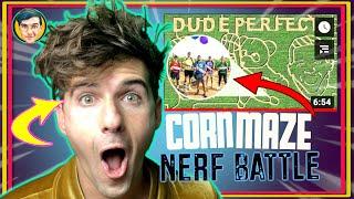 Dude Perfect Corn Mąze   Nerf Battle (REACTION)