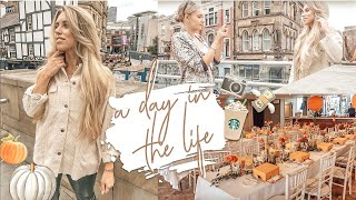 AUTUMNAL SHOPPING VLOG & BLOGGER EVENTS | A DAY IN THE LIFE OF A YOUTUBER