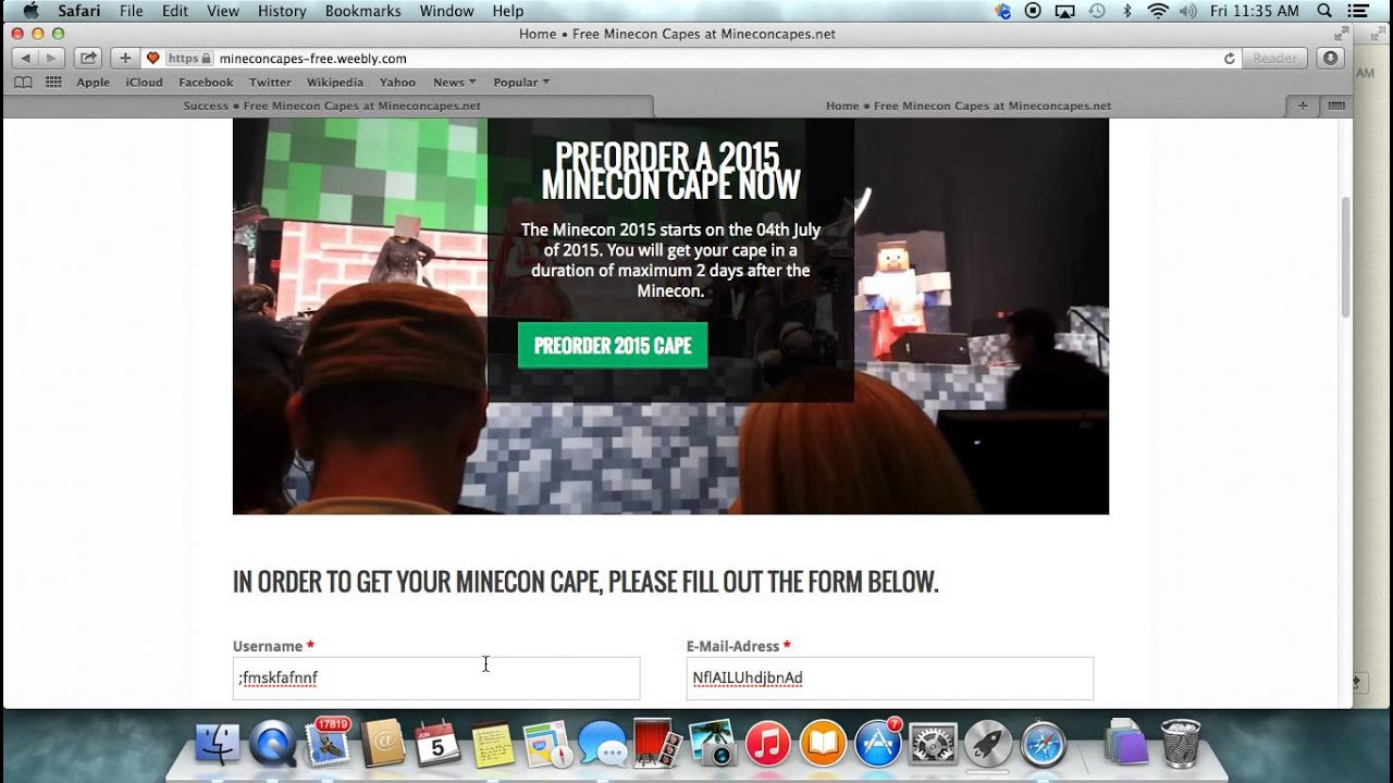 How To Get A Minecon 2015 Cape Free Giveaway Termurah 2018