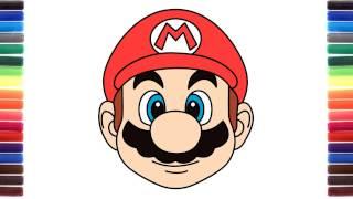 How to draw Cute Emoji Super Mario Run face
