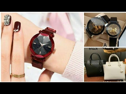 Elegant Women's Handbag And Watches // Newmodel Watch // Couple Watches// New Model Bags//