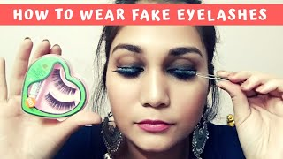 नकली पलकें कैसे लगाए? How to apply False Eyelashes correctly for Beginners in Hindi | Nidhi Katiyar