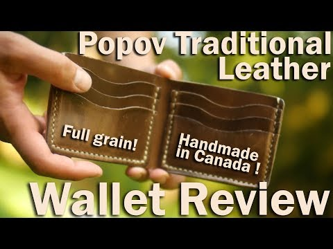 Popov Traditional Horween Leather Wallet Review.  Hand Made In British Columbia Canada.