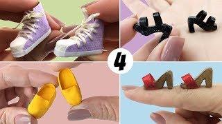 4 Sapatos fáceis de fazer para Boneca Barbie - DIY Miniatura