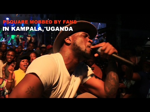 PSQUARE MOBBED BY FANS IN KAMPALA UGANDA DURING THEIR STAGE PERFORMANCE