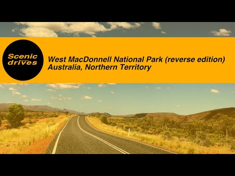 [SLOW TV] The Red Centre - West MacDonnell National Park - Namatjira Drive (Reverse edition)