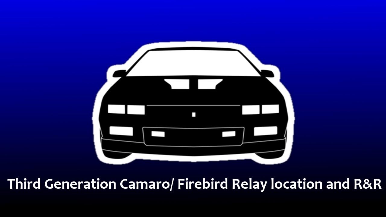 medium resolution of third generation camaro relay location youtube relay location on 92 camaro rs engine diagram get free image about