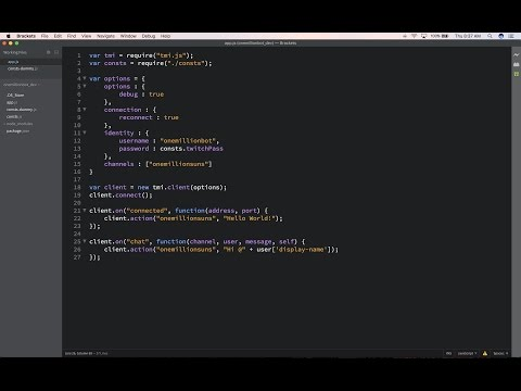 Let's Make a Game : Episode 1 | Building a Twitch Bot in Node.js