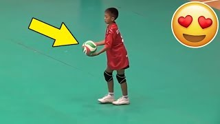 KIDS PLAY VOLLEYBALL !? Beautiful Volleyball Videos (HD)