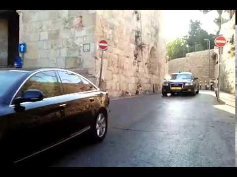 Israeli government Motorcade