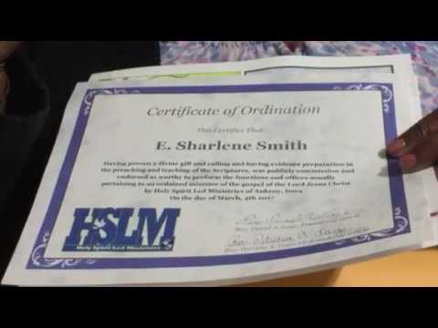 Certificate of Ordination - YouTube