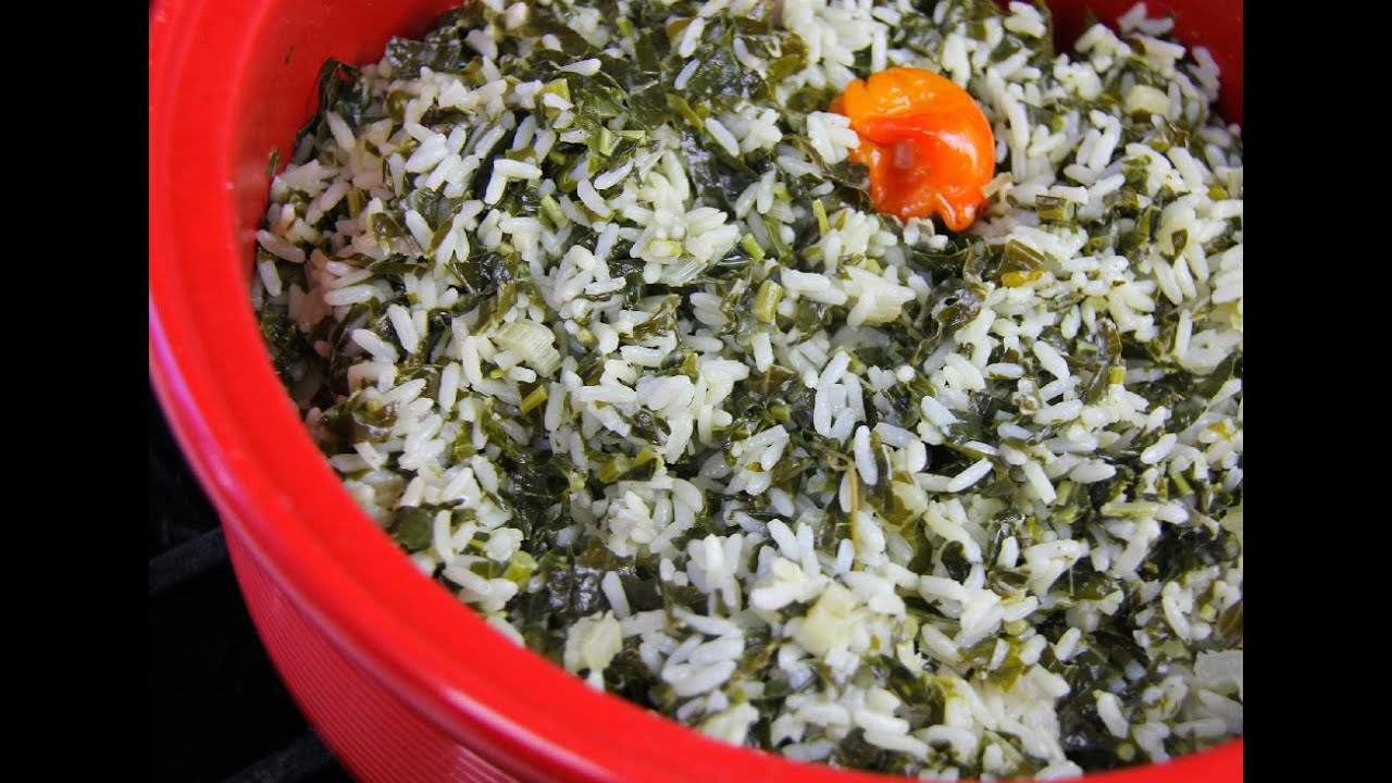 Vegetarian 3 spinach rice tastytuesdays caribbeanpot youtube forumfinder Gallery