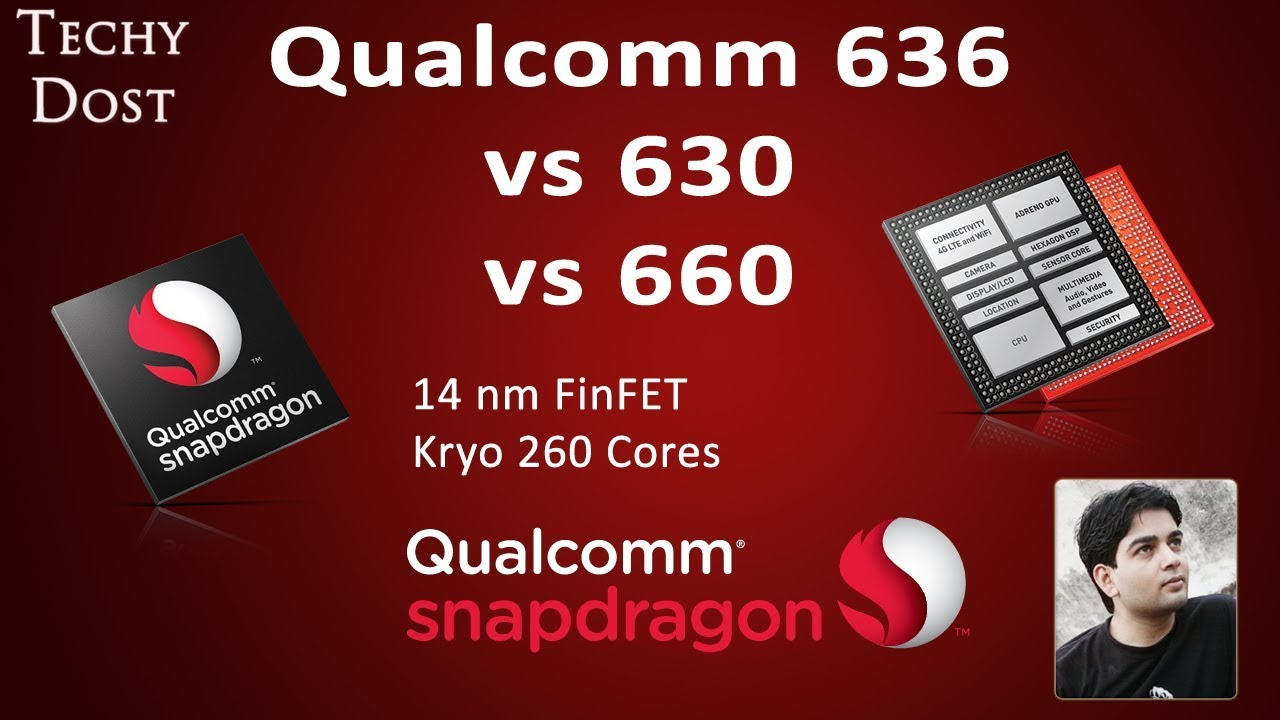 Qualcomm Snapdragon 636 vs 630 vs 660 Processor