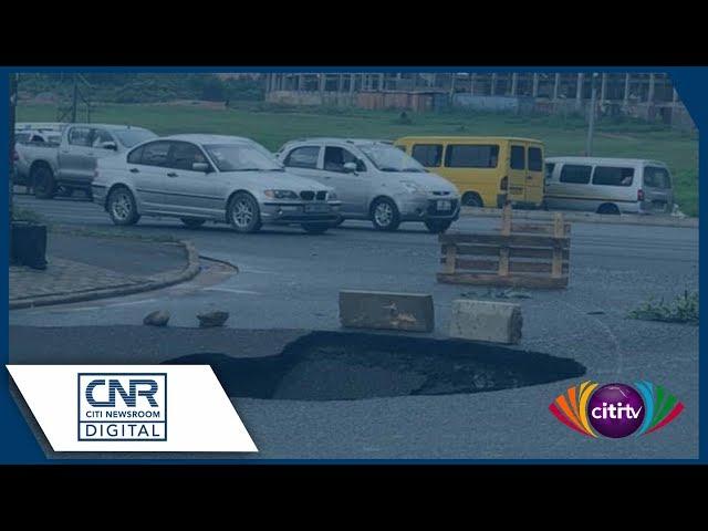 Massive sinkhole develops on Okponglo road