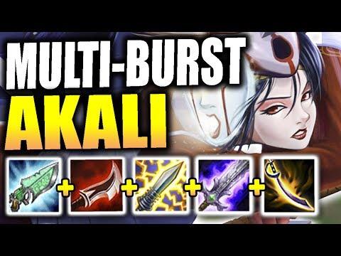 MULTI-BURST AKALI BUILD IS EXPLOSIVE! (TRIPLE ACTIVE BURST) NEW ONE-SHOT BUILD! - League of Legends
