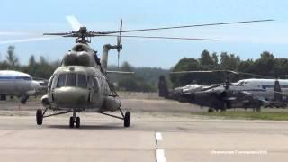 МИ-8 №86 [RF-  ] Посадка Руление Кубинка 19 06 2015