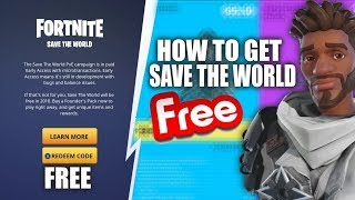 Fortnite save the world Free glitch *Updated*