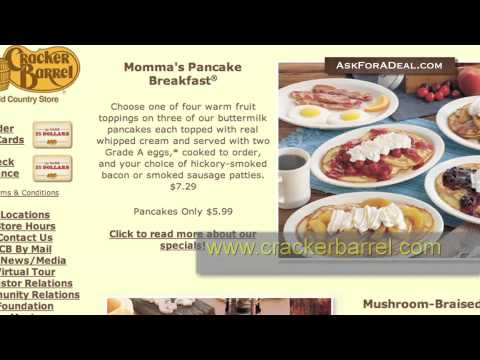 picture regarding Cracker Barrel Coupons Printable named Cracker Barrel Coupon codes - YouTube