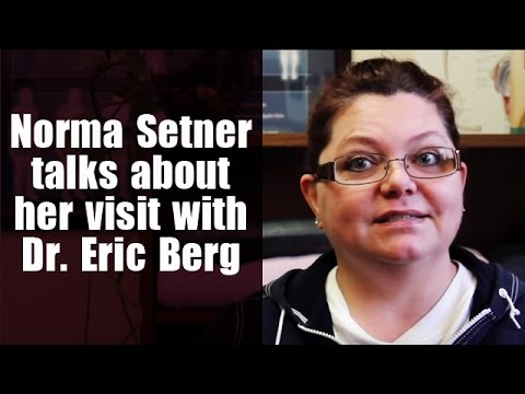 Norma Setner Talks about her visit with Dr. Eric Berg DC