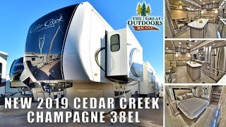 New 2019 CEDAR CREEK CHAMPAGNE 38EL Luxury Fifth Wheel Quality Greeley Colorado RV Dealer