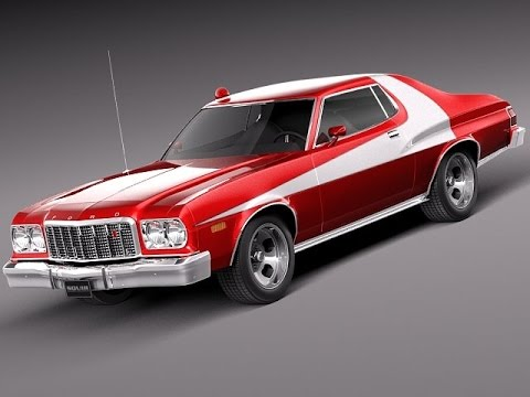 3d model ford gran torino 1975 starsky n hutch 3d model. Black Bedroom Furniture Sets. Home Design Ideas
