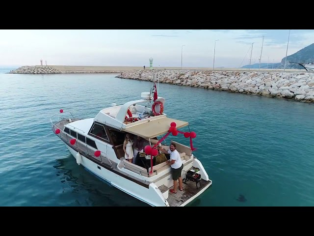 Teknede Drone ile Evlilik Teklifi - Marriage Proposal on Boat In Antalya Turkiye