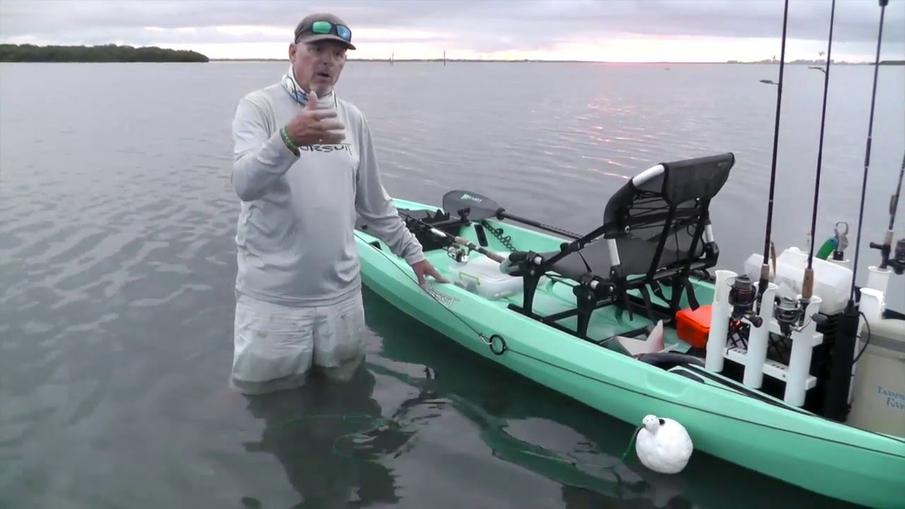 A Kayak Fishing Guide's Anchor Trolley System - YouTube