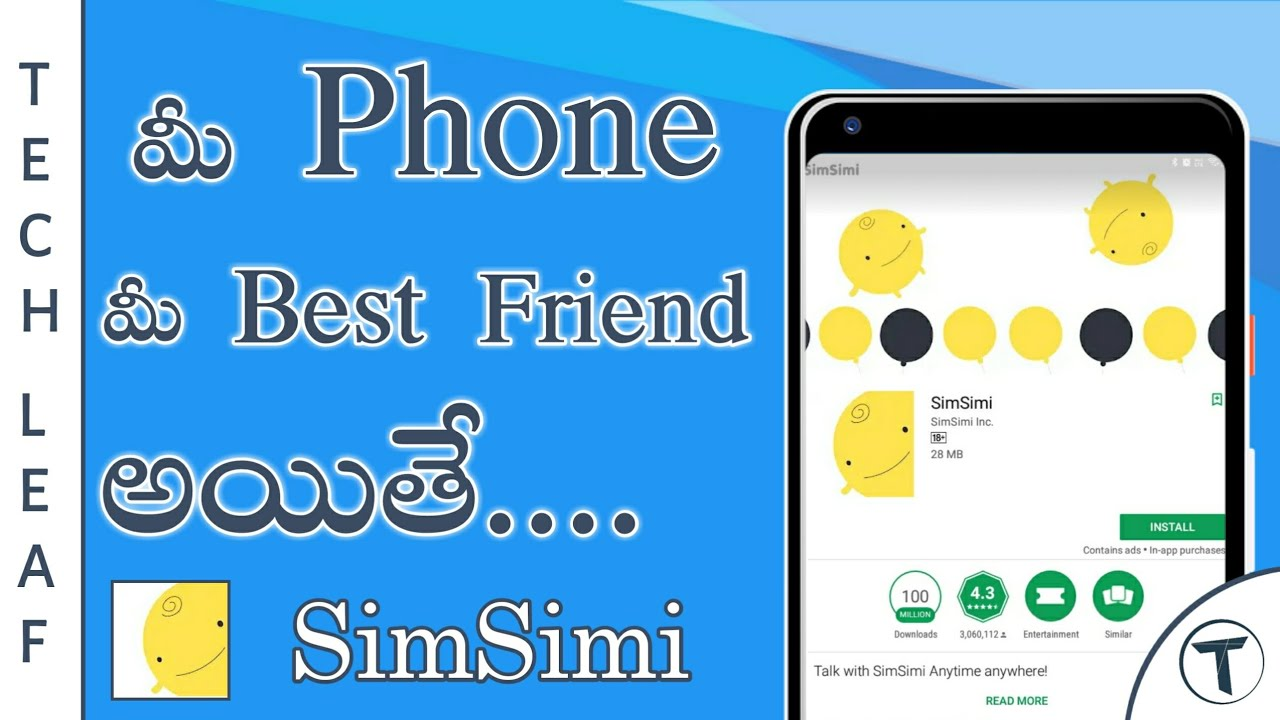 Best A I Chatting App   This App will be Your Freind   SimSimi   Best A I  App   Telugu