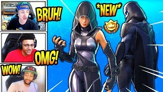 "STREAMERS REACT TO 'NEW' ""FATE"" - ""OMEN"" SKINS! 'LEGENDARY' Fortnite SAVAGE - Moments FUNNY"