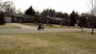 Honda CB450 chopper Bobber first test run after chop