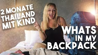 Whats in my BACKPACK I Packliste - THAILAND  mit KIND I Mellis Blog