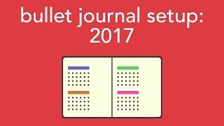 2017 bullet journal setup