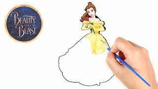 Disney Beauty and the Beast Drawing and Painting with Magic Green Screen Learn Colors for Kids