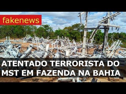 ATENTADO TERRORISTA DO MST EM FAZENDA NA BAHIA - fakenews