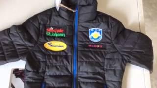 stitching of badges on bomber jackets