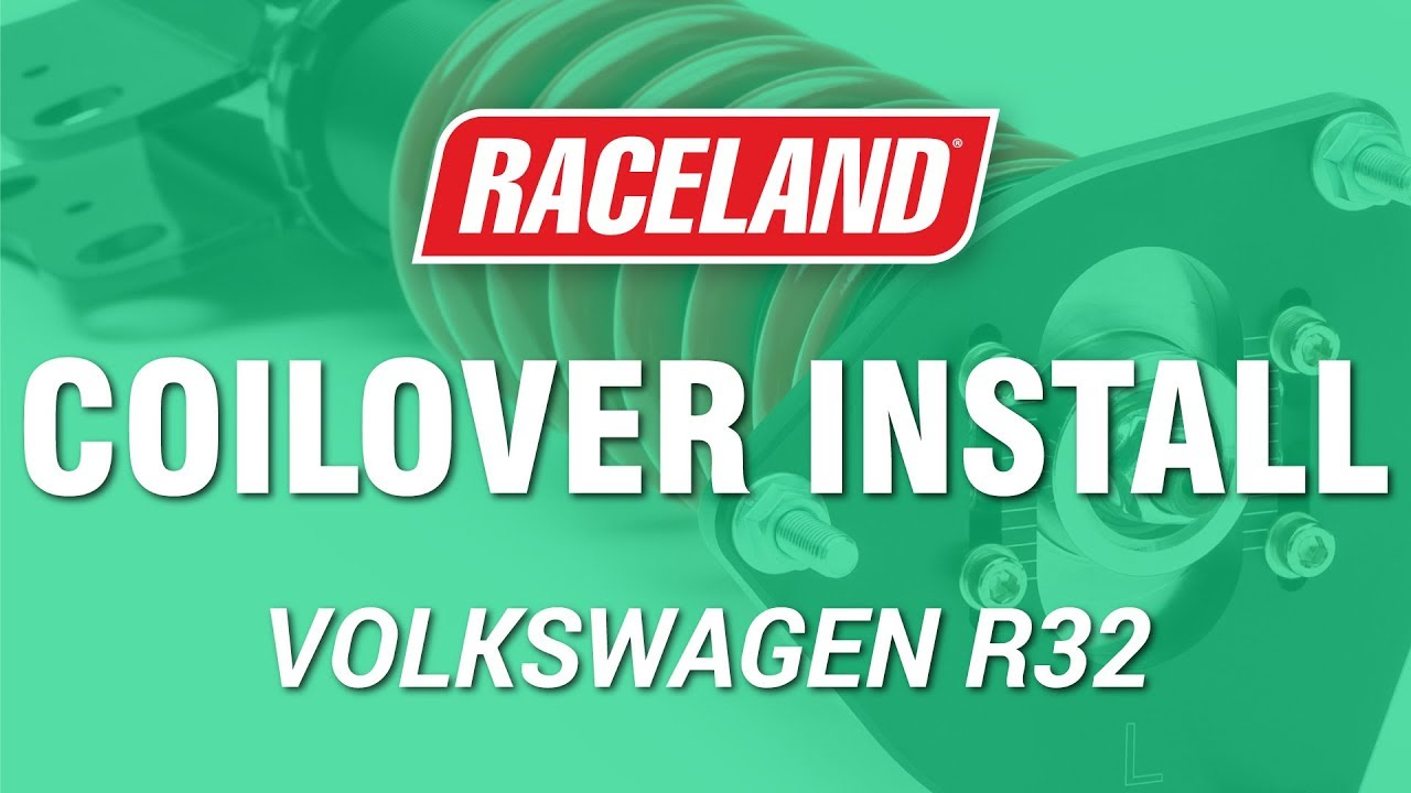 How To Install Raceland Vw Mk4 R32 Coilovers Youtube