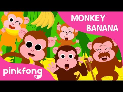 Monkey Banana  Animal Songs  PINKFONG Songs for Children