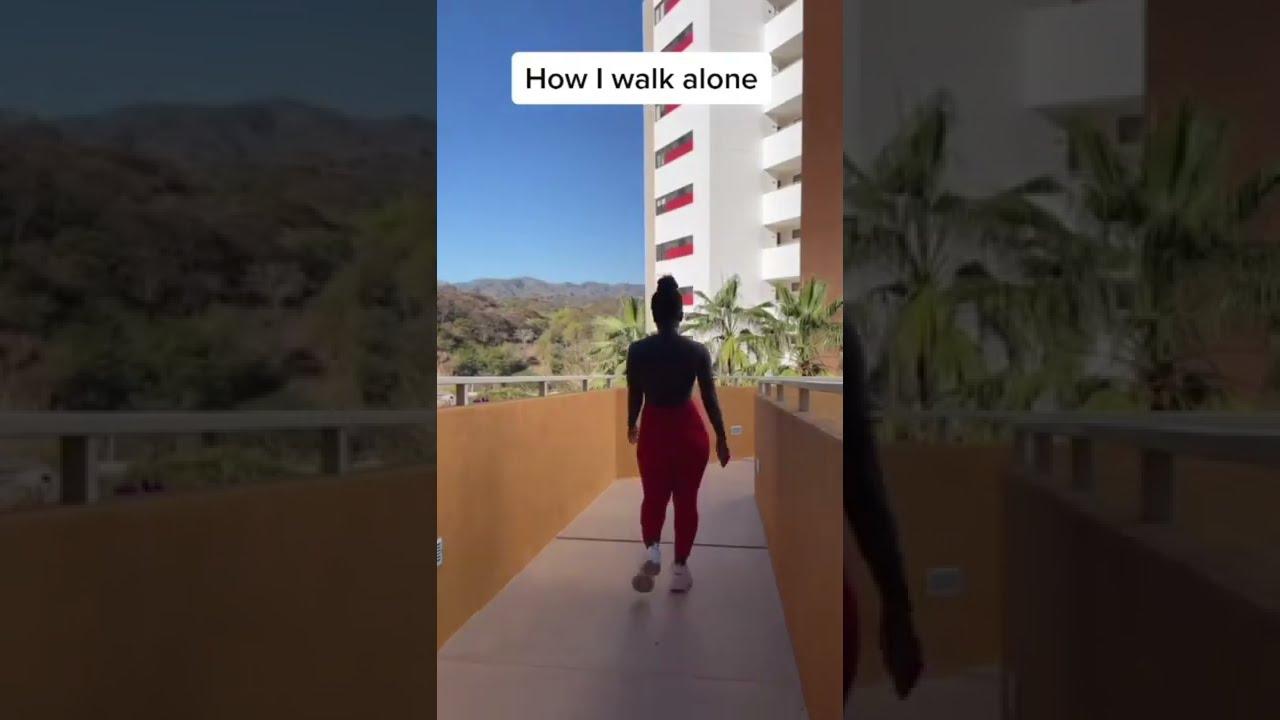 how I walk alone vs #shorts