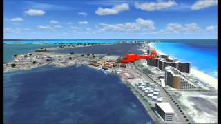 glimpse to cancun hotel zone fsx scenery
