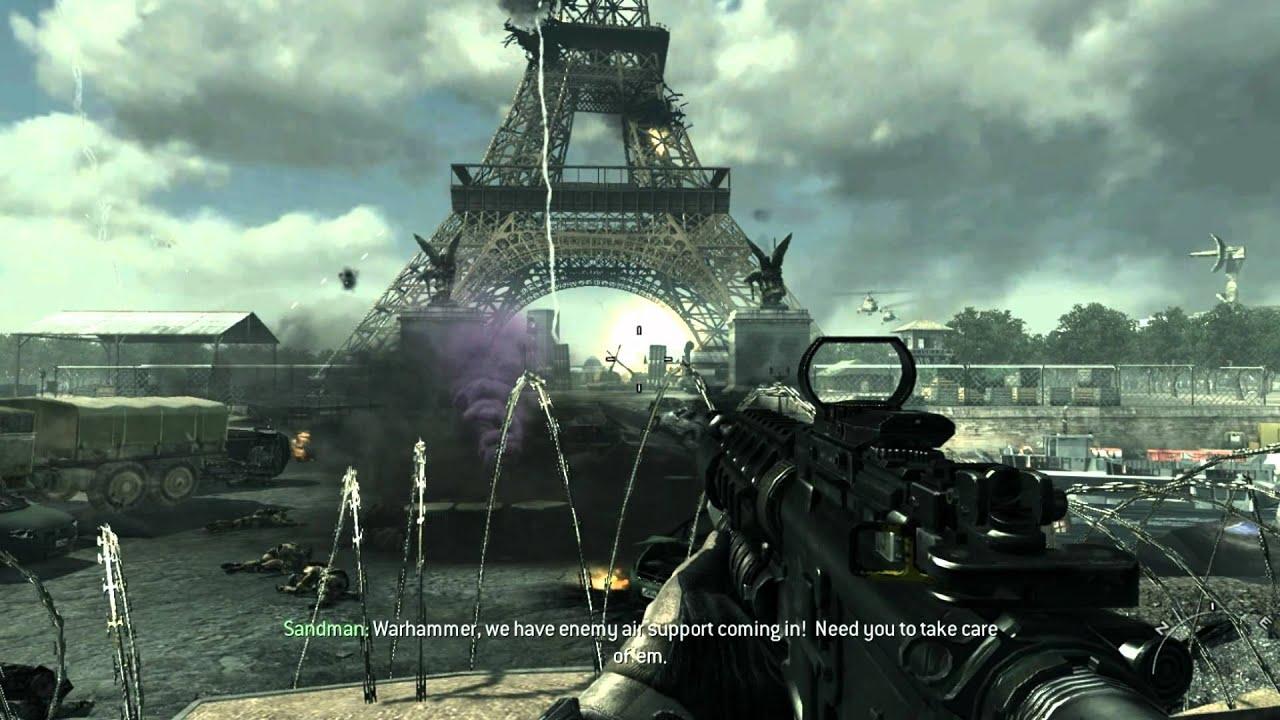 Total War Warhammer Wallpaper Hd Modern Warfare 3 Gameplay Eiffel Tower Collapses Hd