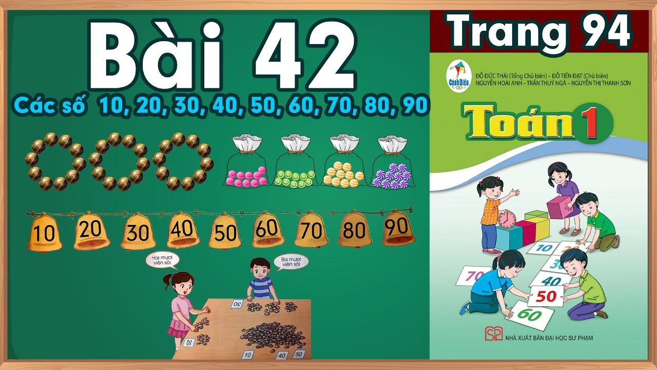Học toán lớp 1|Toán lớp 1 sách cánh diều bài 42 |học toán  lớp 1 trực tuyến